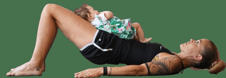 Trainingsprogramme - Mit einer Rückbildung, einem Rückbildungskurs oder Rückbildungsgymnastik nach der Geburt zurück zu deiner starken Mitte. Online Training ist flexibel. Mama trainiert mit Baby.